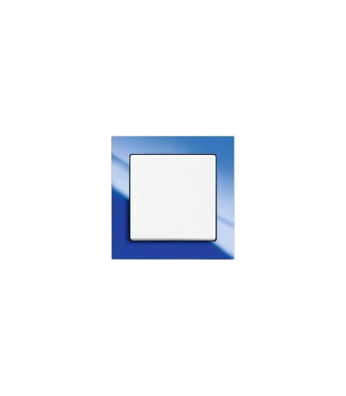 Выключатель серии Busch-axcent синий/белый