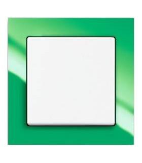 ABB Выключатель серии Busch-axcent зеленый/белый