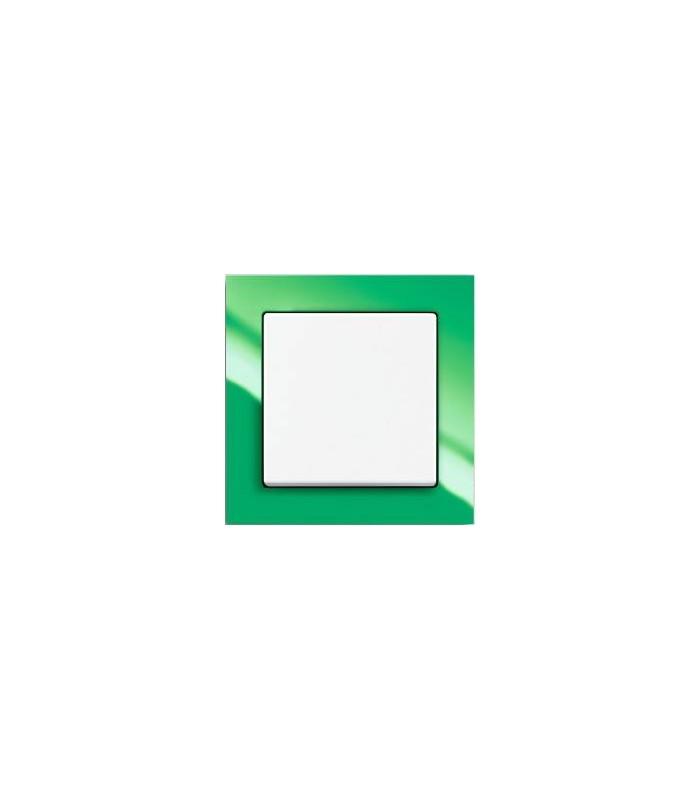 Выключатель серии Busch-axcent зеленый/белый