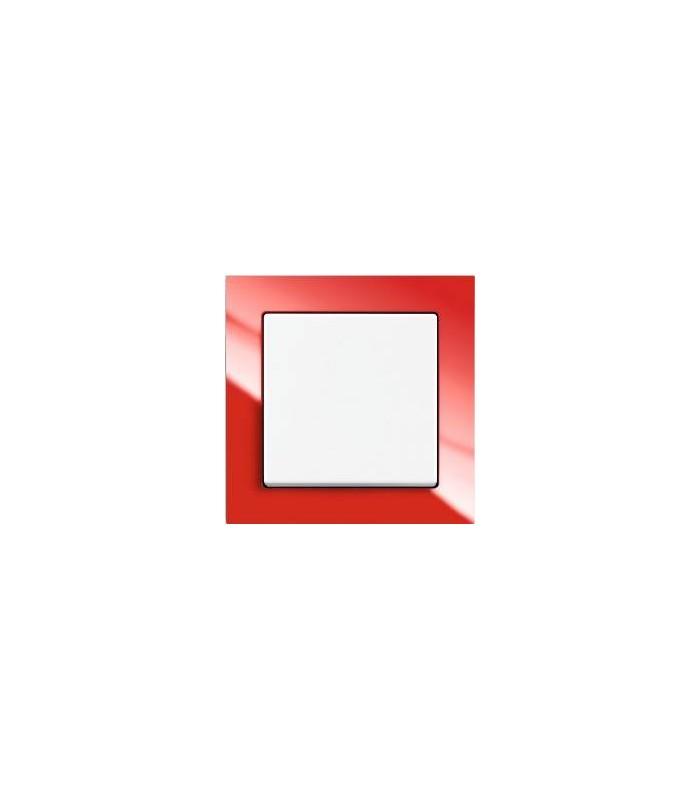 Выключатель серии Busch-axcent красный/белый