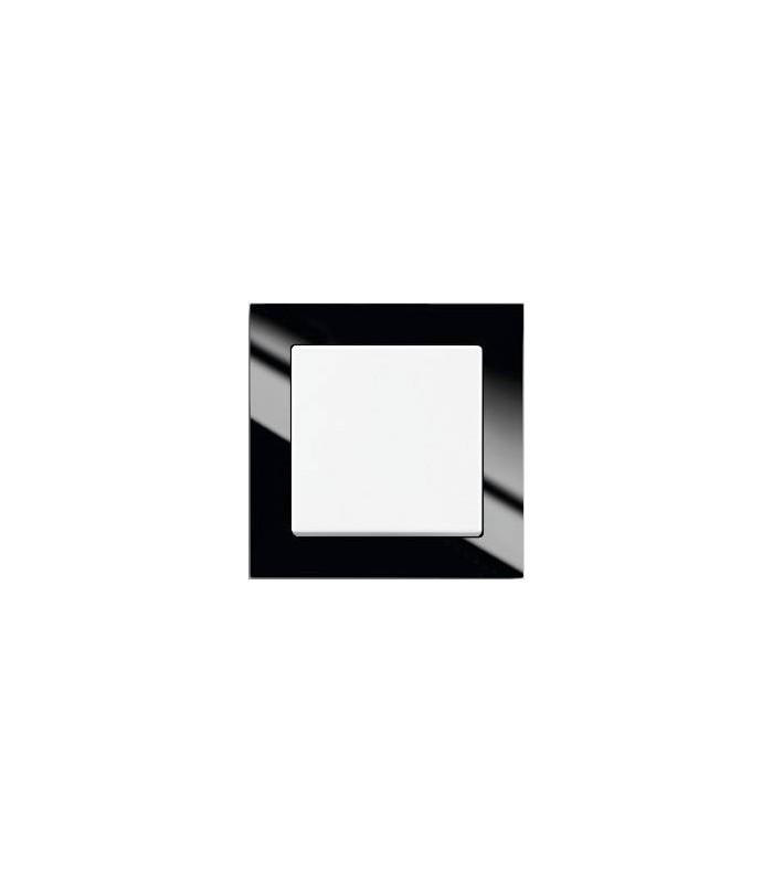 Выключатель серии Busch-axcent чёрный/белый