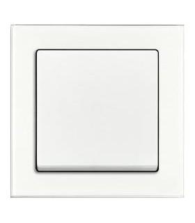 ABB Выключатель серии Busch-axcent белое стекло/белый