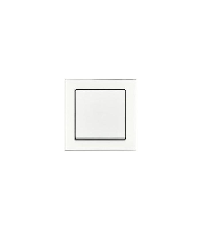Выключатель серии Busch-axcent белое стекло/белый