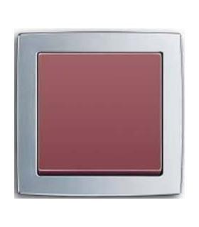 Выключатель ABB серии Solo хром матовый/пурпурно красный