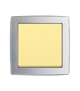 Выключатель ABB серии Solo хром матовый/желтый