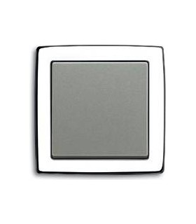 Выключатель ABB серии Solo хром gloss /серый металлик