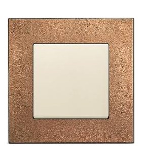 Выключатель ABB серии carat бронза/белый