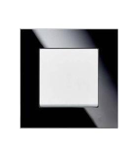 Выключатель ABB серии carat черное стекло/белый