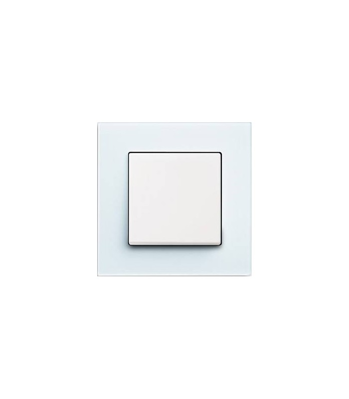 Выключатель ABB серии carat белое стекло/белый