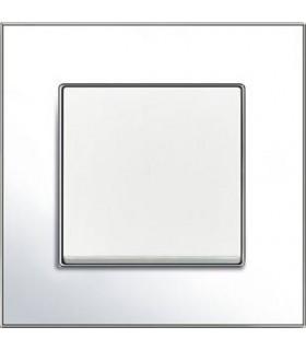 Выключатель ABB серии carat хром/белый