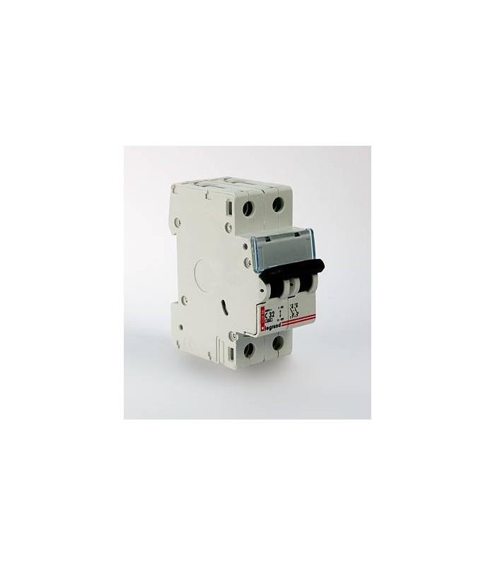 Автоматический выключатель Legrand DX3 2 фазы 63A 2М (Тип C) 6 kA