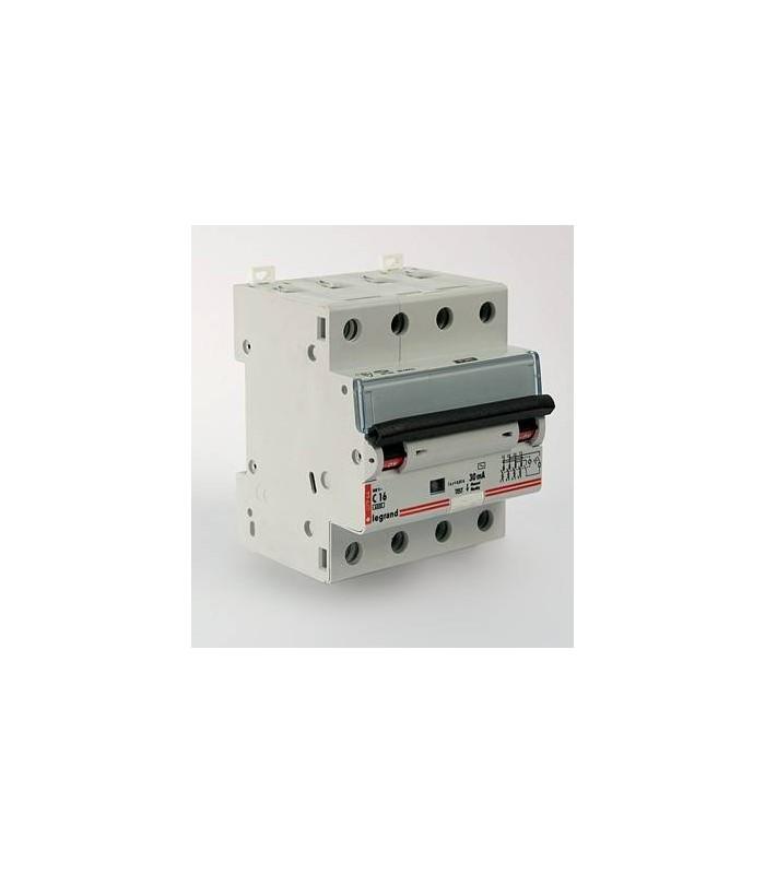 Автоматический выключатель Legrand DX3 4 фазы 10A 4М (Тип C) 6 kA