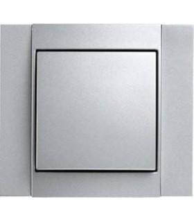Выключатель Berker серии B.1 алюминий
