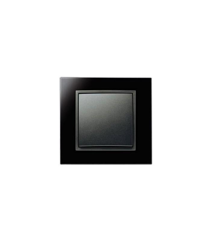 Выключатель Berker серии B.7 Glas черный