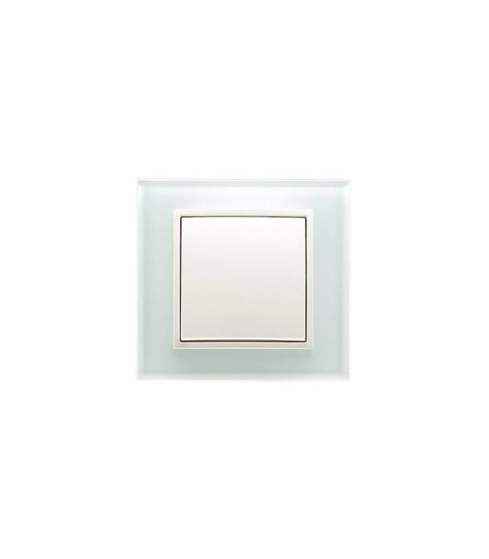 Выключатель Berker серии B.7 Glas полярная белизна