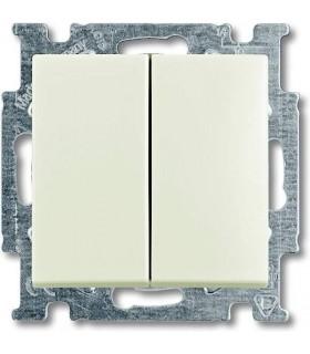 Выключатель двухклавишный ABB Basic 55, слоновая кость