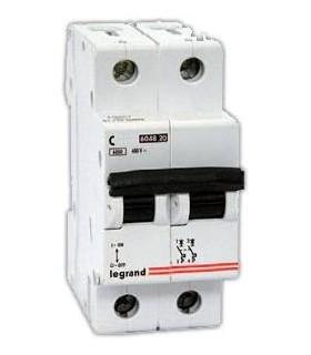 Автоматический выключатель Legrand TX3 2 фазы 20A 2М (Тип C) 6 kA