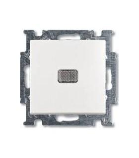 ABB Basic 55 Бел Выключатель 1-клавишный с подсветкой