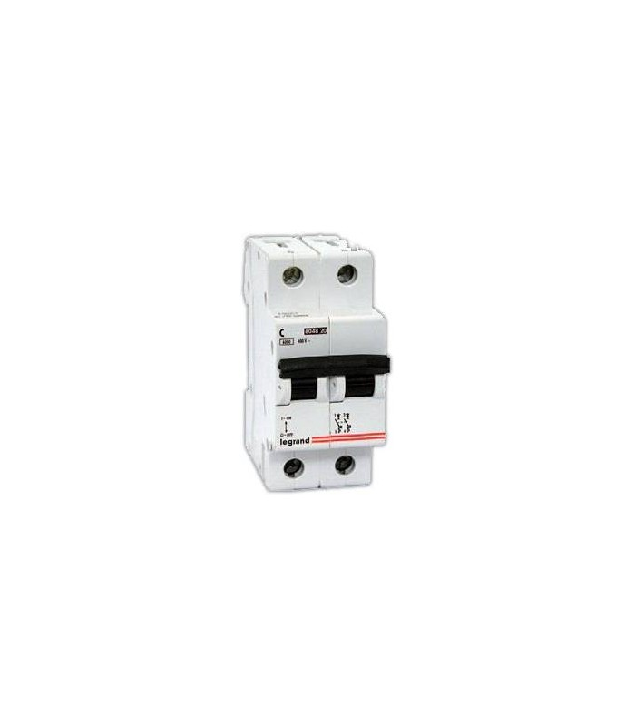Автоматический выключатель Legrand TX3 2 фазы 50A 2М (Тип C) 6 kA