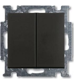 Выключатель двухклавишный ABB Basic 55, шато