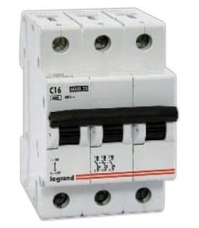 Автоматический выключатель Legrand TX3 3 фазы 16A 3М (Тип C) 6 kA