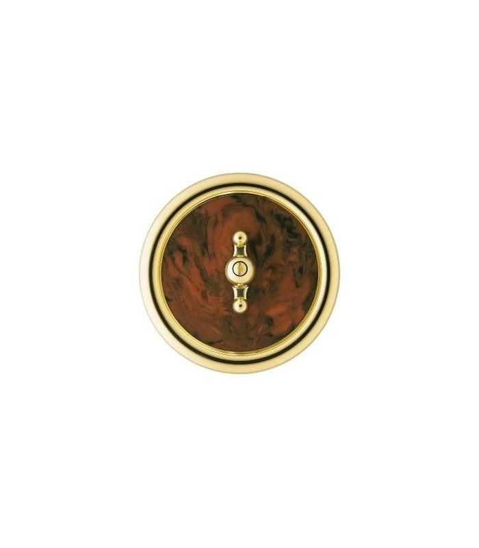 Выключатель Berker серии Palazzo коричневый под корень ореха