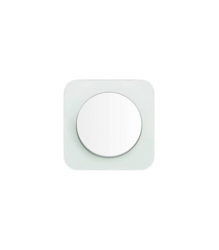 Выключатель Berker серии R.1 стекло, цвет: полярная белизна