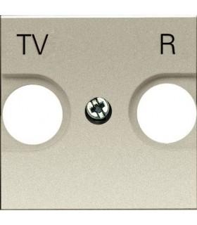Накладка для TV-R розетки (2 модуля) ABB Niessen Zenit, шампань