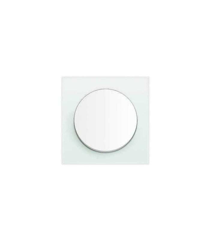 Выключатель Berker серии R.3 стекло, цвет: полярная белизна