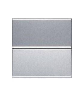 Выключатель одноклавишный (2 модуля) ABB Niessen Zenit, серебро