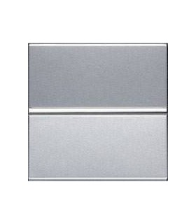Переключатель одноклавишный с 2-х мест (2 модуля) ABB Niessen Zenit, серебро
