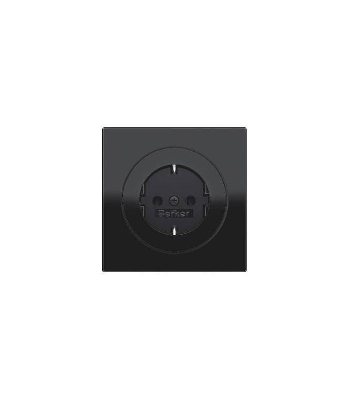 Розетка Berker серии R.3 цвет: черный