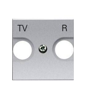 Накладка для TV-R розетки (2 модуля) ABB Niessen Zenit, серебро