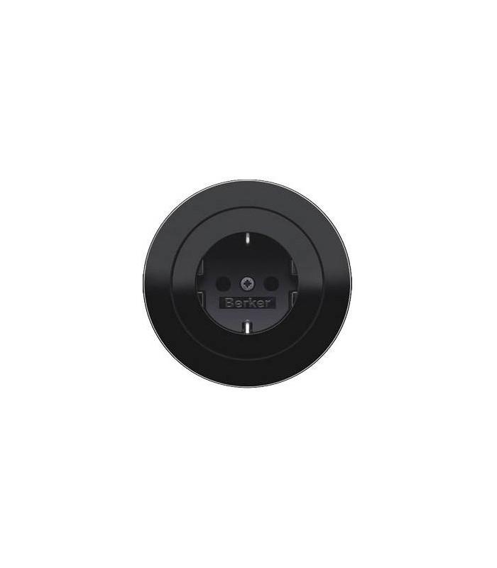 Розетка Berker серии R.Classic черный