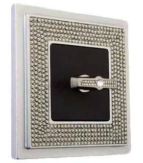 Поворотный выключатель FEDE серии Crystal De Luxe ART