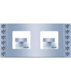 Поворотный выключатель FEDE серии Crystal De Luxe SAND