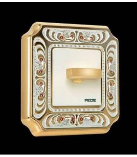 Поворотный выключатель FEDE серии Crystal De Luxe PALACE