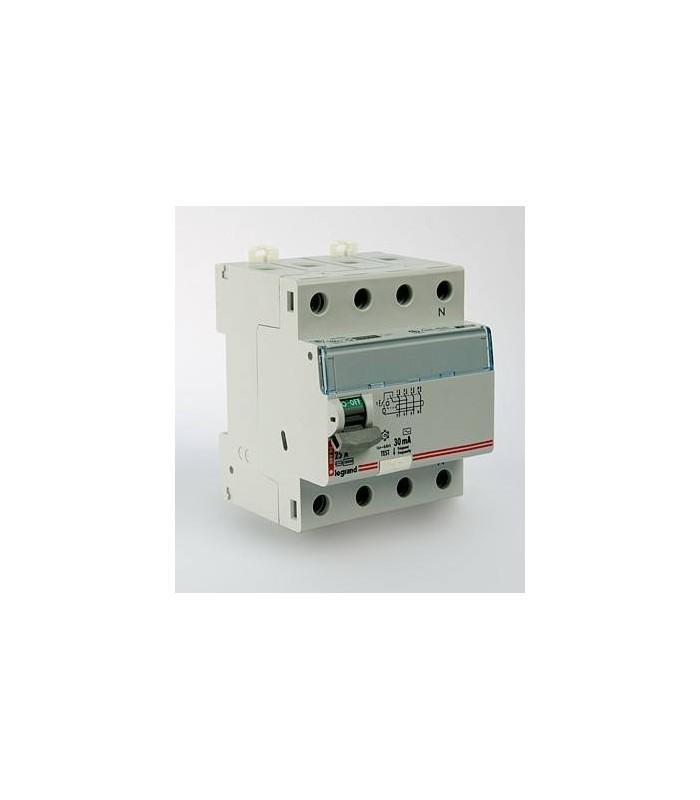 Устройство защитного отключения (УЗО) Legrand DX3 4 полюса 30mA 25А 4М (AC)