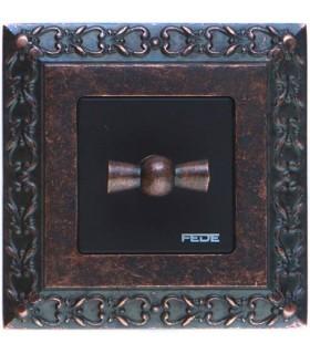 Поворотный переключатель FEDE серии San Sebastian Rustic Copper