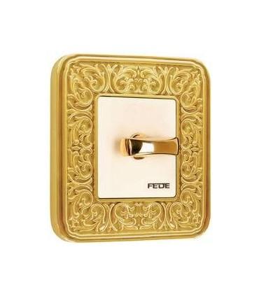 Поворотный выключатель FEDE серии EMPORIO Bright gold