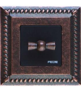 Поворотный выключатель в сборе FEDE Sevilla, rustic cooper