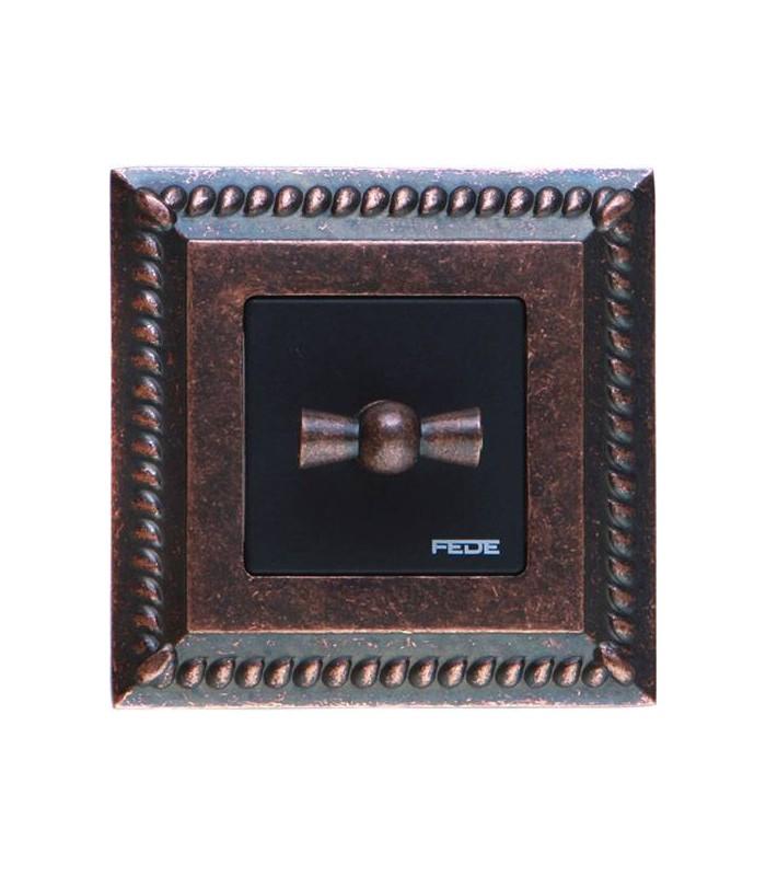 Поворотный выключатель FEDE серии Sevilla Rustic Cooper