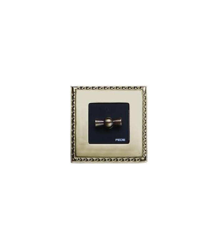 Поворотный выключатель FEDE серии Toledo Real Gold
