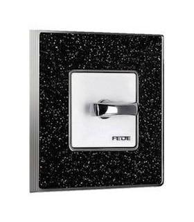Поворотный выключатель FEDE серии Vintage Corinto черный кварц
