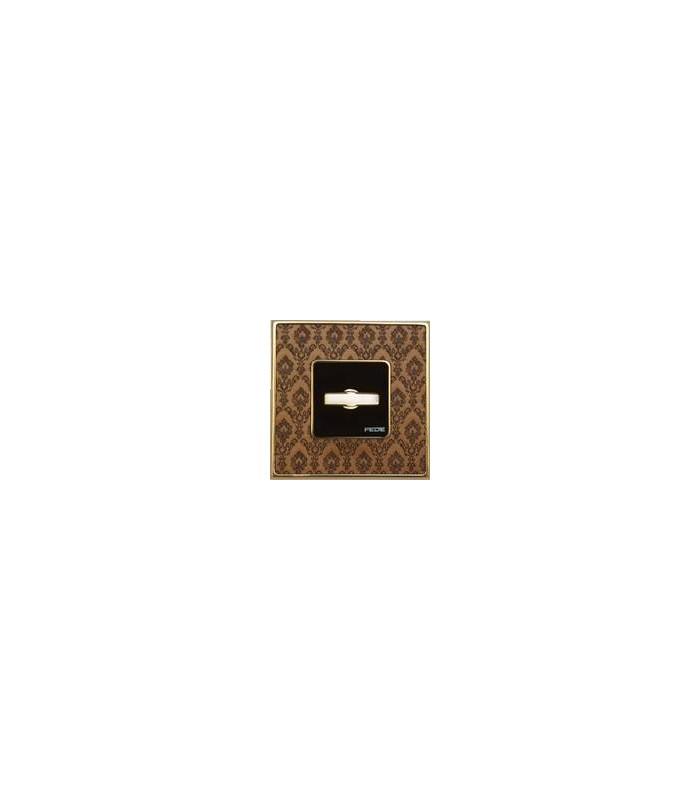 Поворотный выключатель FEDE серии Vintage Tapestry decor brass