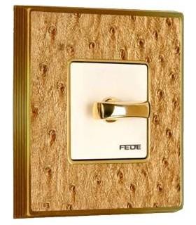Поворотный выключатель FEDE серии Vintage Tapestry aliena gold