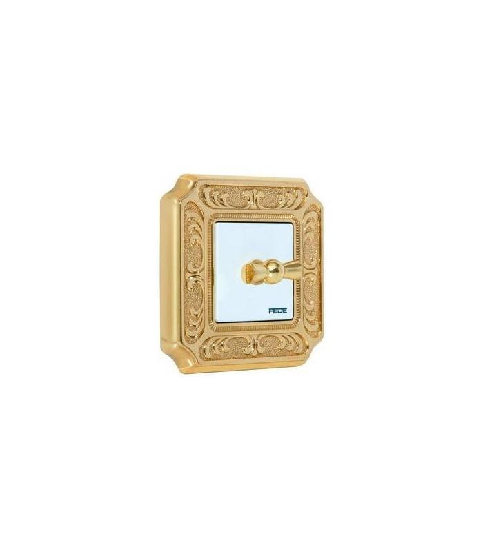 Поворотный выключатель FEDE серии SIENA bright gold