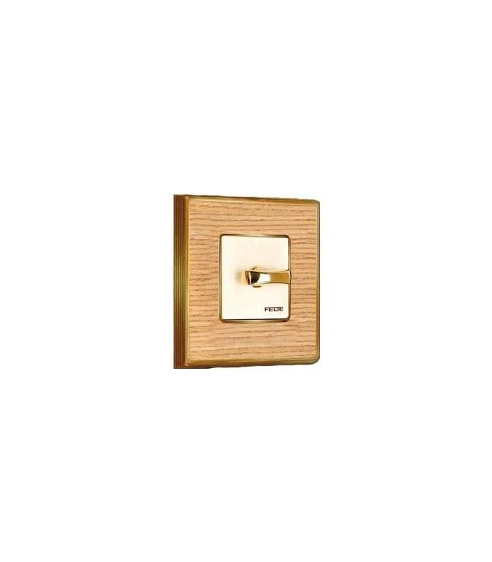 Поворотный выключатель FEDE серии Vintage Wood oak