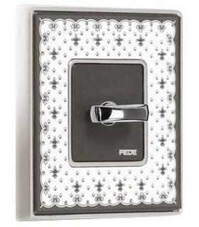 Поворотный выключатель FEDE серии Vintage Porcelain BLACK LYS