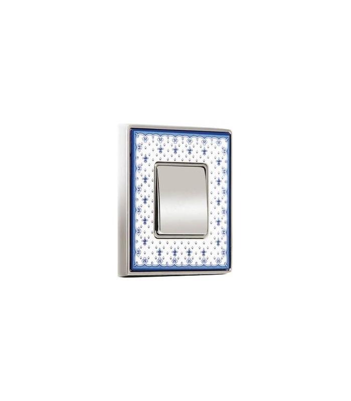 1-кл выключатель FEDE серии Vintage Porcelain BLUE LYS